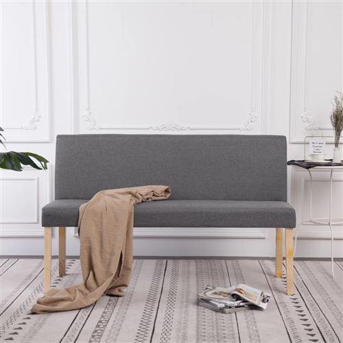 Chunhe Banc 139,5 cm Gris clair Polyester AB281335