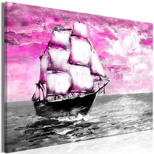 Tableau - spring cruise (1 part) wide pink - artgeist - 90x60