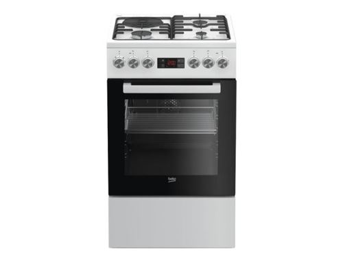 Beko FSE53321DWCS - Cuisinière - pose libre - largeur : 50 cm - profondeur : 60 cm - hauteur : 85 cm - avec système auto-nettoyant - classe A - blanc
