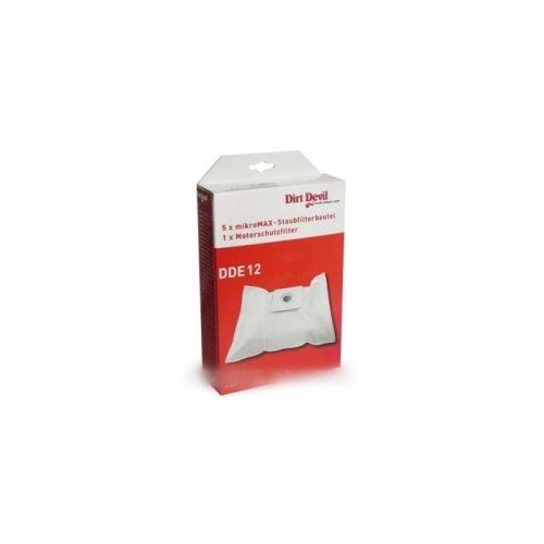 5x sacs +1 filtre moteur pour m7075 pour aspirateur dirt devil handy - 9538634