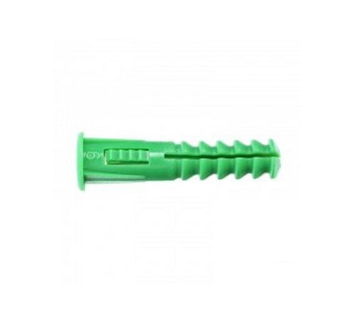 Cheville RC6 verte avec collerette - Sachet de 35