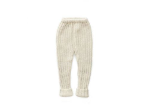 Oeuf Baby Clothes - Pantalon Côtelé blanc Alpaga 18M