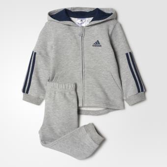 Adidas Survêtement bébés Sports Performance Hooded grisbleu