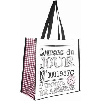 info pour ebc6c 4742a Sac Pour Course Shopping Cabas Bistrot Brasserie Courses Du ...