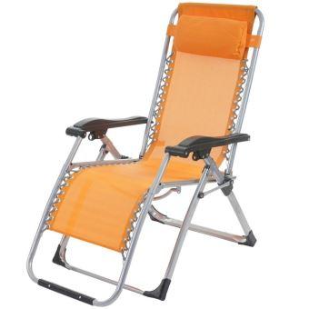transat bain de soleil chaise longue jardin pliable orange mdj04101 mobilier de jardin achat prix fnac - Chaise Longue Jardin