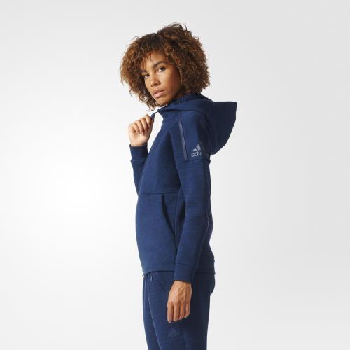 Adidas Veste à capuche Travel Z.N.E. gris chinébleu marine Taille S Adulte Femme