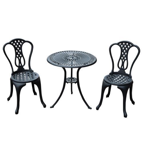 Salon de jardin mobilier de jardin 2 chaises + 1 table en ...