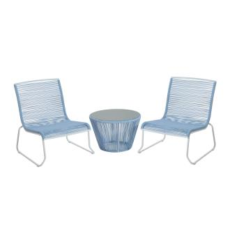 60€ sur Ensemble salon de jardin design contemporain 2 places : 2 ...
