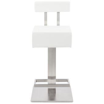 Tabouret snack mi-hauteur  PLUBA  en matière synthétique blanche - Achat    prix   fnac 618ca4912c1a