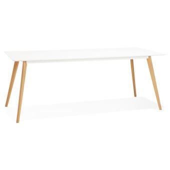 Table Manger Style À Design 'mady' Cm Blanche 200x90 Scandinave 8nOZwPX0kN