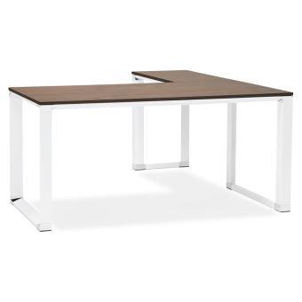 Bureau D Angle Design Xline En Bois Finition Noyer Et