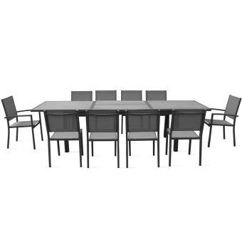 Table de jardin extensible 10 places en aluminium et polywood ...