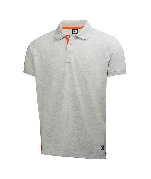 Polo Oxford H/H 100% Coton (Grey Melange-M)