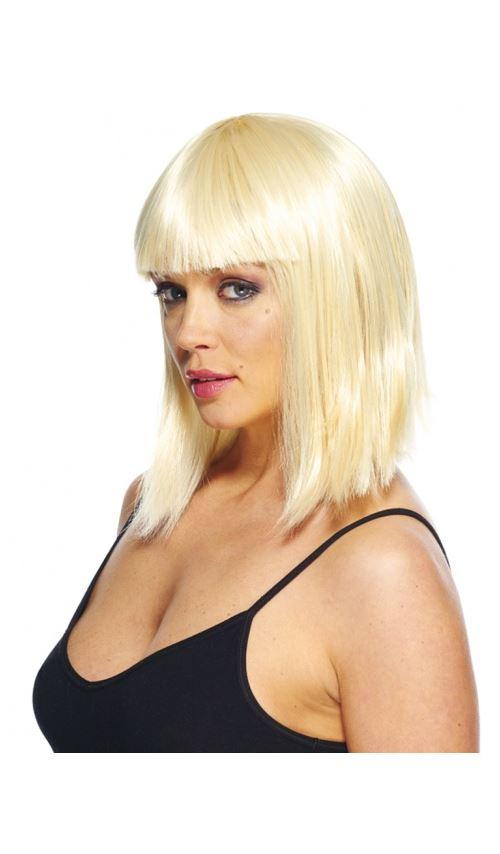Perruque Glamour Carre Plongeant Blonde Accessoire De Deguisement Achat Prix Fnac