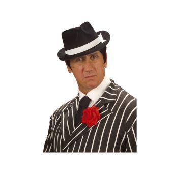 offrir des rabais gamme complète d'articles vente pas cher Chapeau Borsalino Gangster Noir avec Ruban