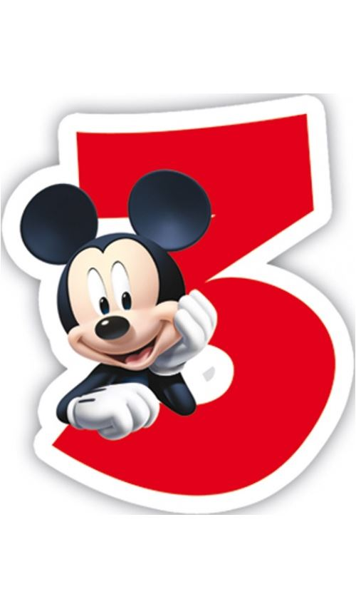 Bougie Anniversaire Mickey™ - 3 ans