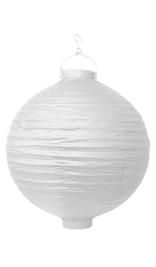 Lanterne Boule à LED - Blanc x 35 cm