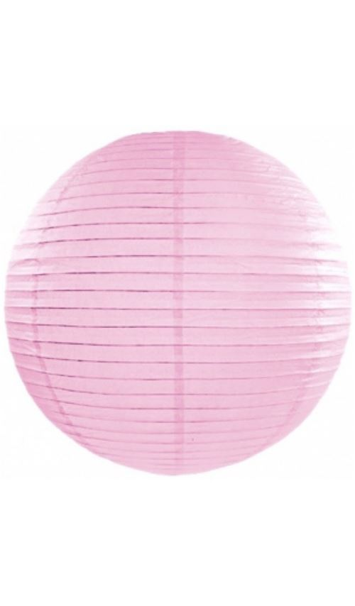 Lanterne Boule - Rose Pale x 35 cm