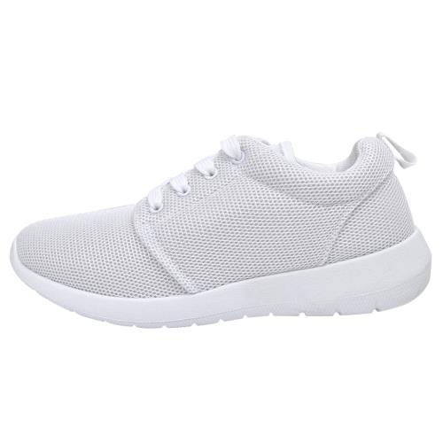 <strong>Chaussures</strong> de running femme blanches à lacets taille 38