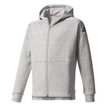 pretty nice ed522 28b96 Adidas - Veste à capuche junior adidas ID Stadium - 1314 ans - gris clair noirnoir - Vestes de sport - Achat  prix  fnac