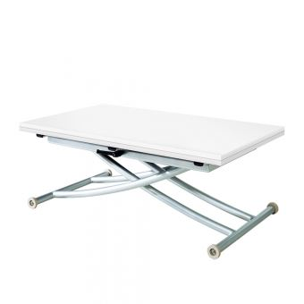 c6088937b9c126 Table Basse Relevable Extensible First Blanc Laqué - Achat   prix   fnac