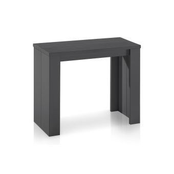 Table console extensible gris mat simply 3 rallonges achat prix fnac - Console extensible grise ...