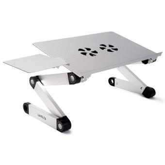 Support Table De Lit Pliable Inclinable Pour PC Ordinateur Portable  Refroidisseur   2x Ventilateurs   ARGENT   Refroidissement Et Watercooling    Achat ...