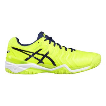 chaussure asics jaune fluo