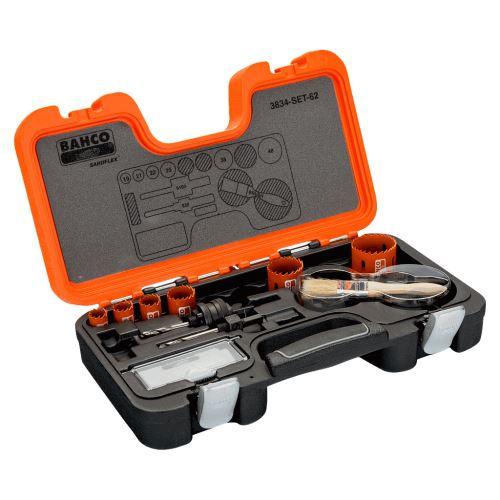 Bahco - Coffret de scies trépans bimétal Sandflex® 19 à 48 mm, 8 pcs - 3834-SET-62