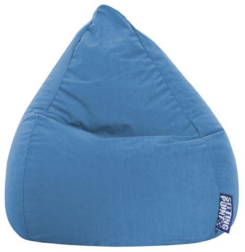 Pouf Easy L bleu moyen