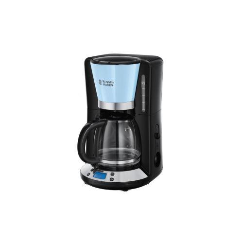 Russell Hobbs 24034-56 - Cafetiere Programmable Colours Plus - Technologie Whirltech - 15 Tasses - 1100 W - Bleu Ciel