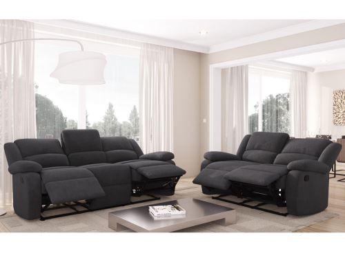 8a567287885f52 RELAX Set de canapés microfibre gris 3 + 2 places à partir de 900 € 3  offres disponibles