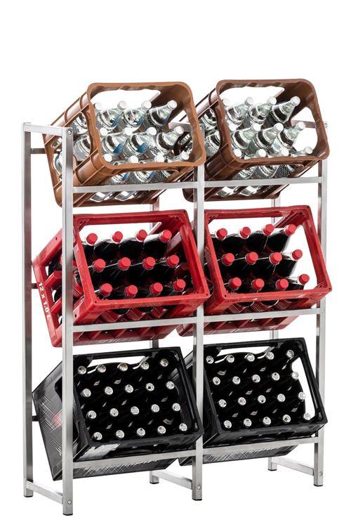 Range bouteilles Lennert - Taille XL - Couleur Acier inoxydable
