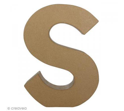 Lettre fantaisie S - 21,5 x 30 cm