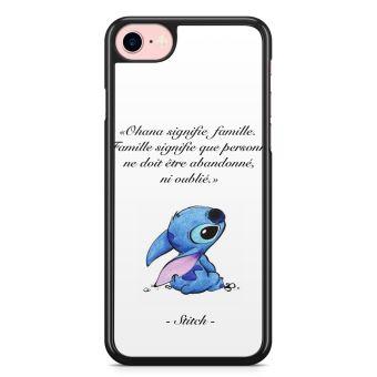 Coque iPhone 7 et iPhone 8 Ohana Signifie Famille Stitch Disney