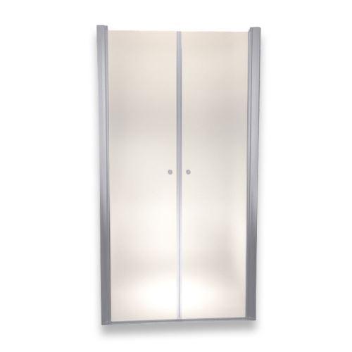 Porte de douche 185 cm largeur réglable 120-124 cm Dépoli-opaque