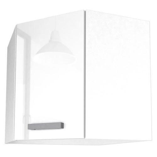 START Meuble de cuisine haut dangle L 58 cm - Blanc brillant