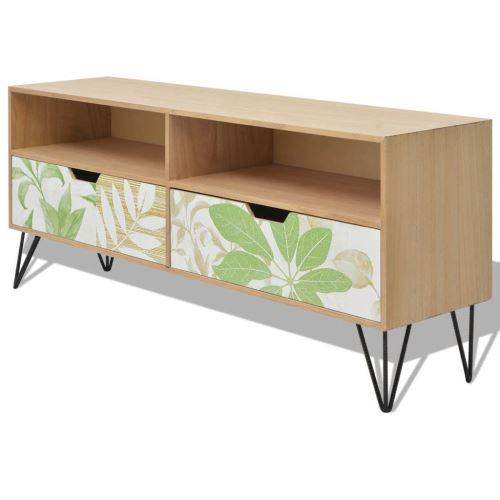 Meelady Meuble TV   Armoire de Rangement   Armoire Hi-Fi   Table Buffet avec Tiroirs pour Salon 120 x 30 x 50 cm MDF Marron