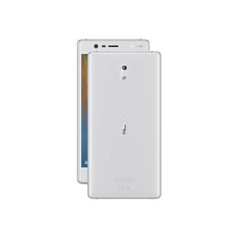 nokia 3 smartphone portable d bloqu lte ecran 5 pouces 16 go nano sim android blanc. Black Bedroom Furniture Sets. Home Design Ideas