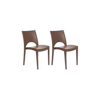Green boheme lot de 2 chaises de jardin paris - en polypropylene ...