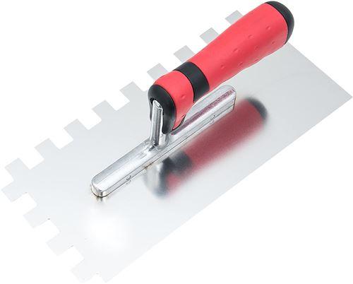 Connex Truelle à dents denture 130 x 280 mm, 15 x 15 mm avant droite, manche bi-matière, 1 pièce, cox781231