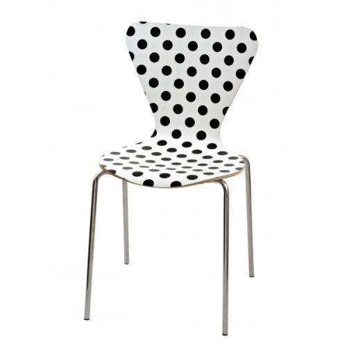 Chaise design a Pois blancs ou noirs