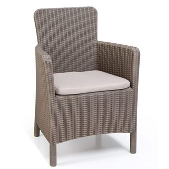 Allibert Chaise de salle à manger de jardin Trenton Cappuccino 226454
