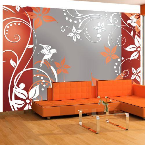 Papier peint - Floral fantasy II - Décoration, image, art | Fonds et Dessins | Motifs floraux |