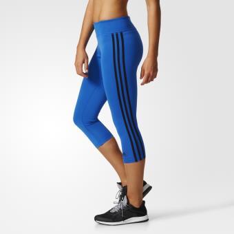 Adidas Legging 3/4 D2M 3 Stripes bleu/noir Taille XS Adulte ...