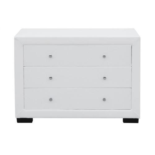 Commode chambre à coucher design EVA - couleur - Blanc