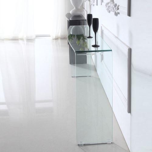 Console design en verre ALINE