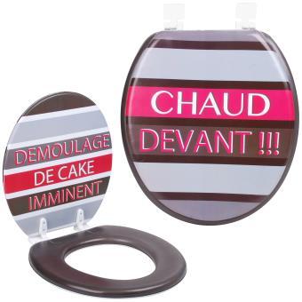Abattant De Toilettes Wc Design Humour Fun Démoulage Cake