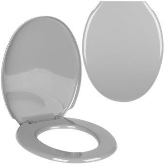 abattant de toilettes cuvette wc design uni gris argent d co city contemporain accessoires. Black Bedroom Furniture Sets. Home Design Ideas