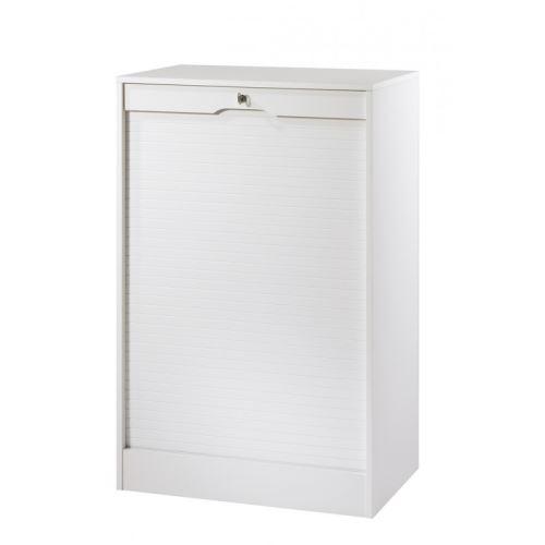 Classeur à Rideau Large Hauteur 108 cm - Coloris - Blanc
